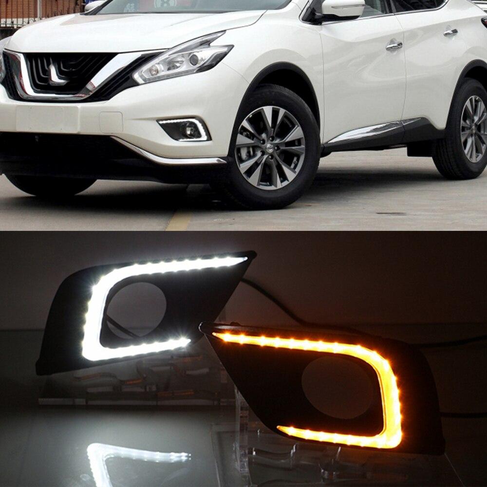 For Nissan Murano 2015-2016 DRL Daytime Running Fog Light W// Turn Signal Lamp