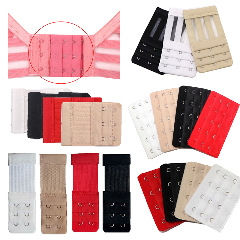Soft Elastic Bra Band Extenders StrapLadies Bra Extender Extension Hooks Nylon Clasp Women Underwear Intimates Accessories