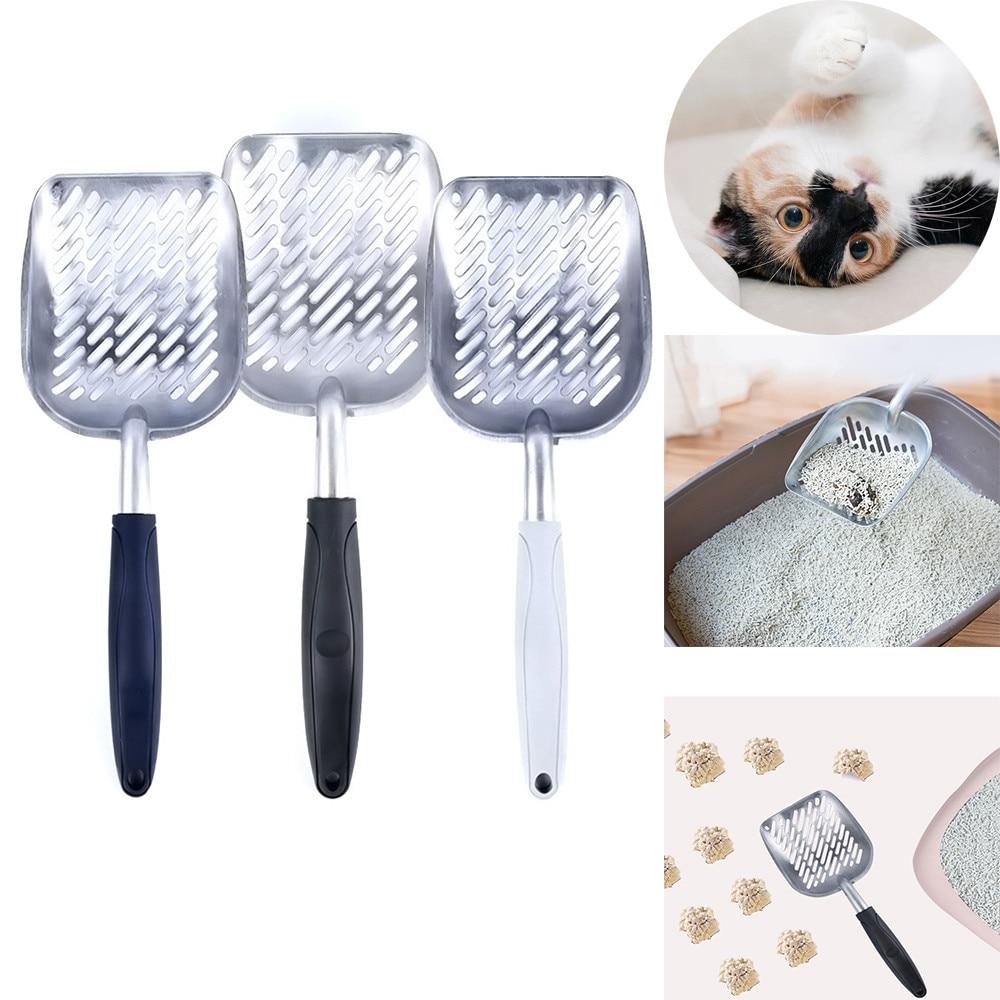 Cat Kitten Litter Scoop Aluminum Alloy Metal Pooper Waste Poop Cleaner Pet Sand Shovel For Household Pet Cleaning Gadgets