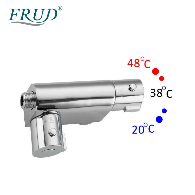 FRUD Bidets Thermostat Dusche Messing Chrom Bidet Wc Wasserhahn Dusche Tragbare Sprayer Gesetzt Heiße und Kalte Wasser hygienische dusche