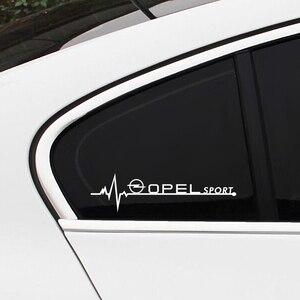 Image 3 - Autocollants de vitres latérales de voiture, pour Opel Astra H G J Insignia Mokka Zafira Corsa Vectra C D Antara, accessoires de voiture, emblème sportif, 2 pièces