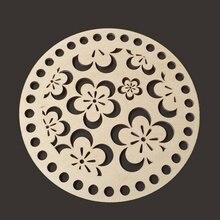 Набор из 20 штук s1 5 см/590 дюйма круглые деревянные корзины