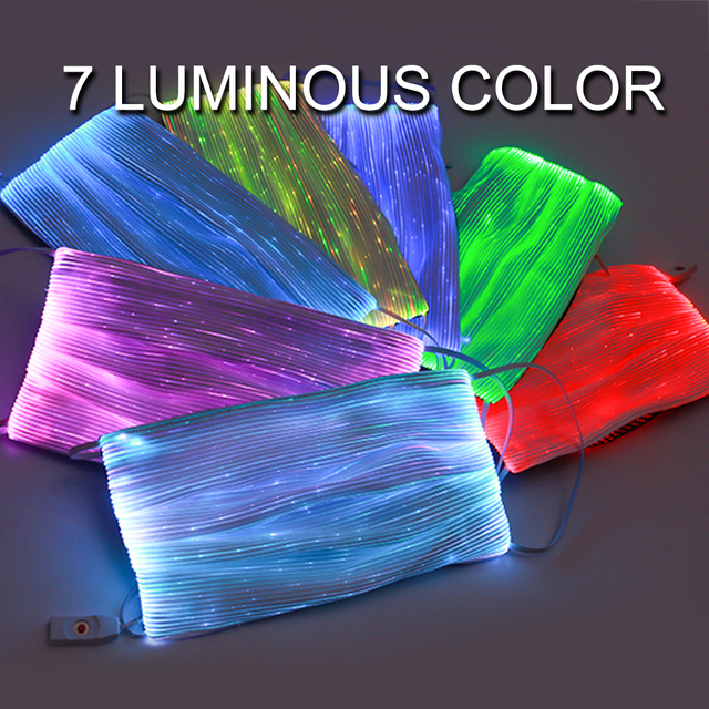 LED Flashing Mask 7Colors Luminous Mask Activated Carbon With Filter Anti-Pollution Breathable Dustproof Motorcycle Face Shileld 4