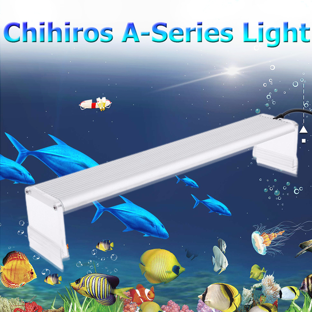 Chihiros A 시리즈 Aquarum LED 가벼운 물고기 탱크 수생 식물 성장 조명 20 50cm AC100 240 볼트에 방수 밝은 클립