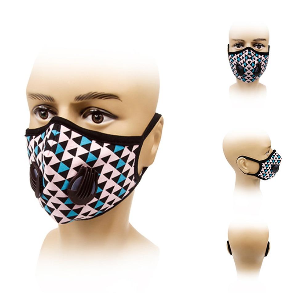 1Pcs Fashion Colorful Unisex Breath Valve PM2.5 Mouth Mask Anti-Dust Anti Pollution Anti-fog Haze