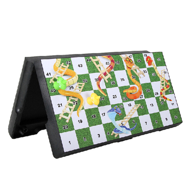Foldable Magnetic Board Snake & Ladders Chess Game Interactive Desktop Party Toy Interactive Party Games Christmas Board Games 3
