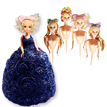Lovely  Food Grade Plastic  Doll Model wedding decoration Cake Mold for DIY Doll Dress Sugarcraft Fondant Cake Decorating Tools