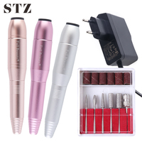 STZ Professional Electric Manicure Nail Drill Pen UV Gel Remover Machine Electric Pedicure Care Tools Nail Sanding Files MT01 03