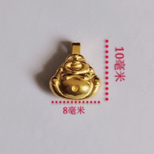 1PCS Gold Buddha Gold Jewelry Girl Heart 3D Hard Gold Charms 999 Gold Pendant Lucky Bead Je