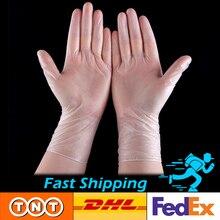 Einweg Handschuhe 100 stücke Transparent Anti-Virus Vinyl PVC Handschuh Für Haar Salon Nicht-Slip Haushalt Reinigung Verwenden DHL Schnelle Versand