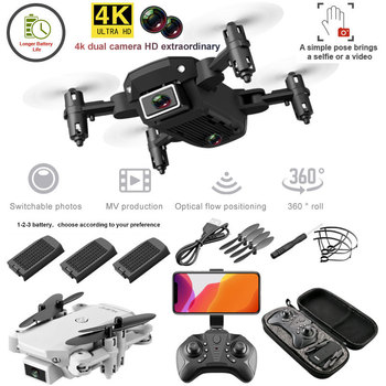S66 FPV Mini Drone With Camera HD RC Foldable 4K Profesional Selfie Wifi Double Drones Quadcopter Dron Toys