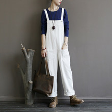 Women Corduroy Jumpsuits Vintage Winter Solid Color Sleeveless Corduroy Overalls Strap Thick Bib Pants HipHop Streetwear Trouser(China)