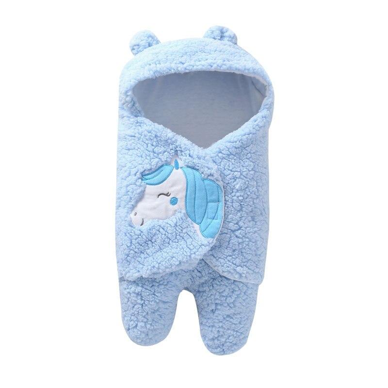 2020 ins style Cosy newborn Baby Sleeping Bag  Plush Cartoon One piece Warm receive Blanket for newborn infant sleepwear