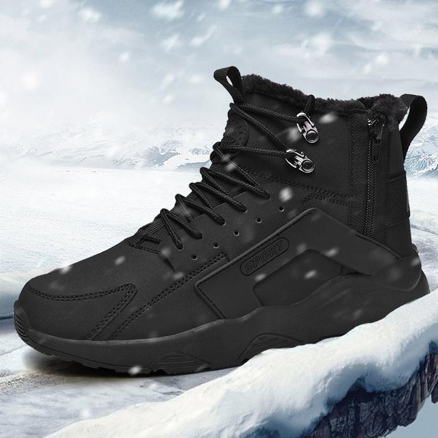 2019 New trend snow boots Gaobang thickening plus velvet men's shoes men's casual shoes men's sports shoes
