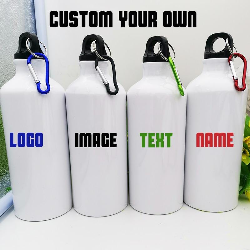 custom metal bottle diy sports water bottle print logo name image 600 ML hiking tour climbing drinkware company gift tumbler|Water Bottles|   - AliExpress