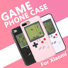 Retro Gameboy Phone Case for Xiaomi Mi 6 Tetris GB Handheld Game Player Console Cover Controller Boy Chirstmas Gift With Battery(China)