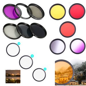 Image 1 - Filtr obiektywu aparatu DSLR UV ND FLD Star color 37 40.5 43 46 49 52 55 58 62 67 72 77 82 mm dla Nikon Canon Sony Fujifim Olympus