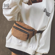 Women Corduroy Waist Bag Ladies Designer Canvas Fanny Pack Fashion Brown Money Phone Chest Banana Bag Female Bum Belt Bags 118(China)