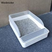 Toilet-Pan Litter-Box Deodorant Cat Shovel Semi-Enclosed Pet with for Small Dogs Pet-Cat