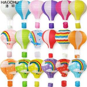 Image 2 - Lanterne chinoise à souhait en papier pour ballons à Air chaud, 5 pièces, lanterne à suspendre arc en ciel, décoration de fête de mariage, anniversaire et vacances, lanterne blanche