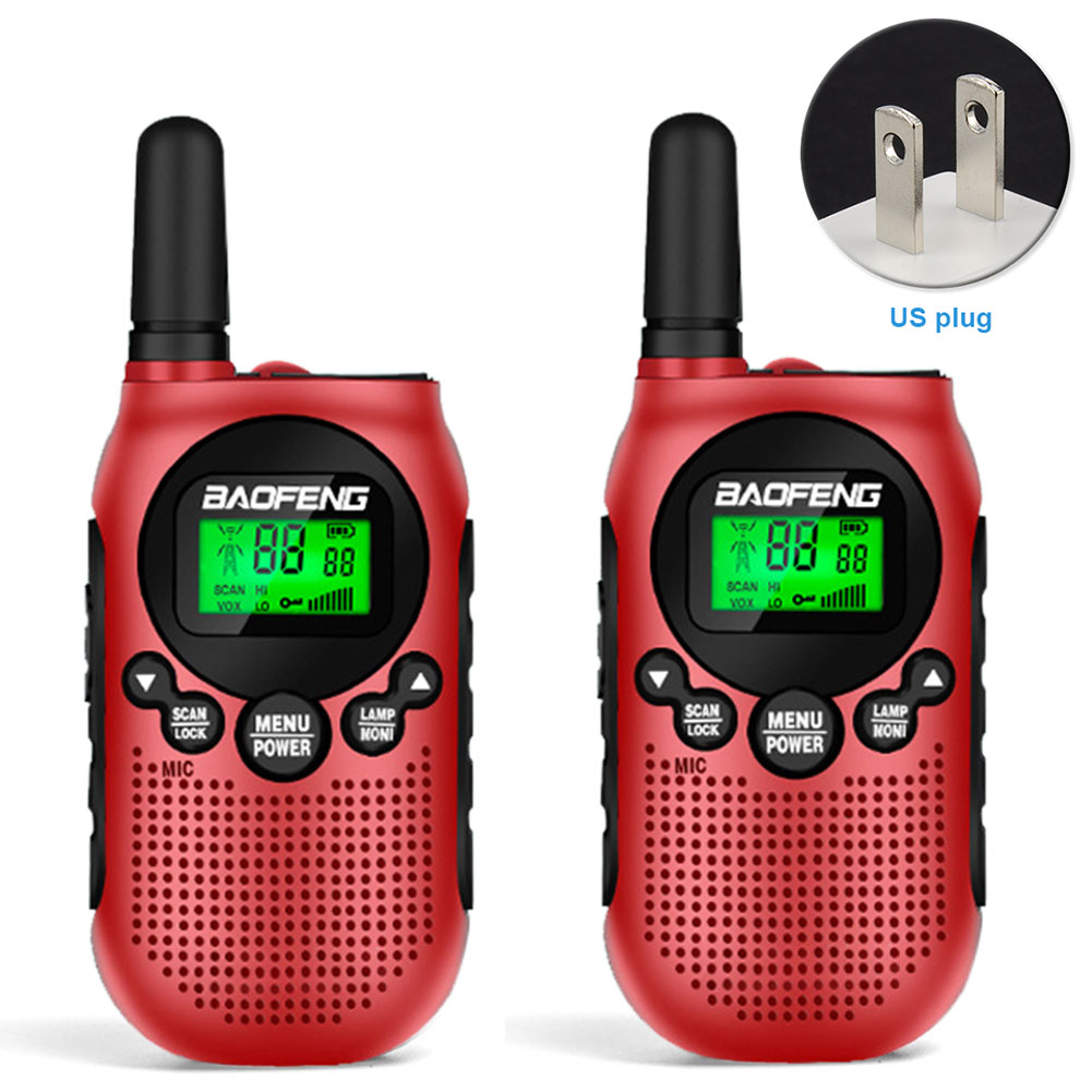 2pcs Ergonomic 2 Way Radio Mini Rechargeable Hiking Long Distance Camping Outdoor Sports Birthday Gift Kid Walkie Talkie Team