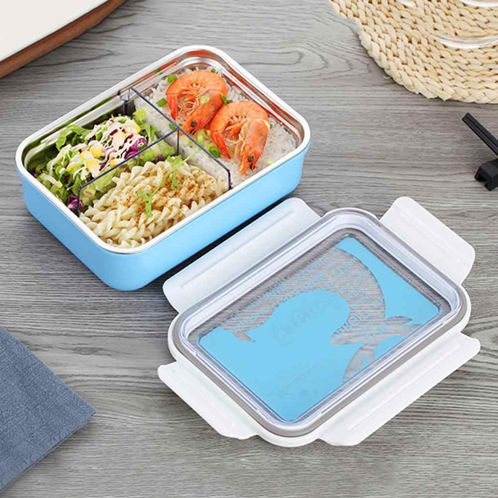 Bento box plastic lunch box portable sealing adult students compartments preservation lunch box