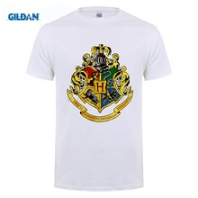 École de magie Slytherin/Hufflepuff/Ravenclaw/gryffondor collège Badge conception t-shirt(China)