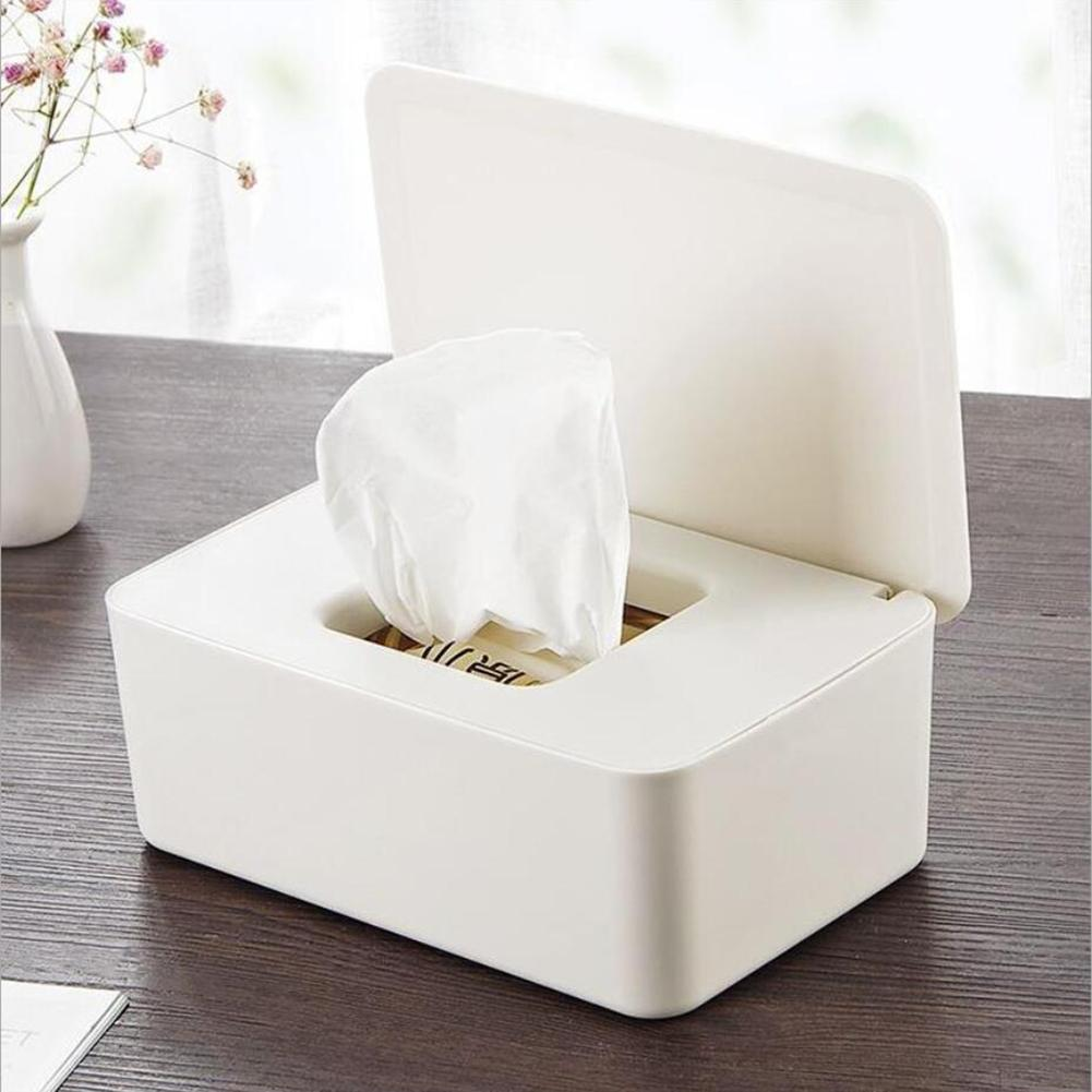 Storage-Box Lid-Tissue-Box Wipes Paper Office-Decor Plastic Household With For Home Desktop-Seal