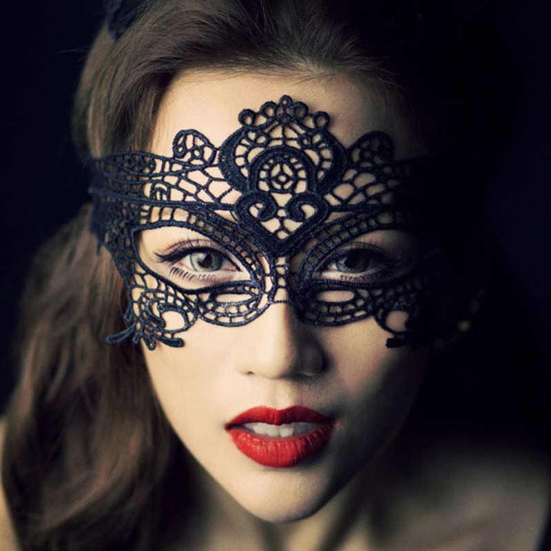 Sexy de encaje máscara de disfraces de Halloween fiesta mujeres máscaras de ojo máscara BOLA DE mascarada de cosplay disfraz veneciano carnaval media cara máscara