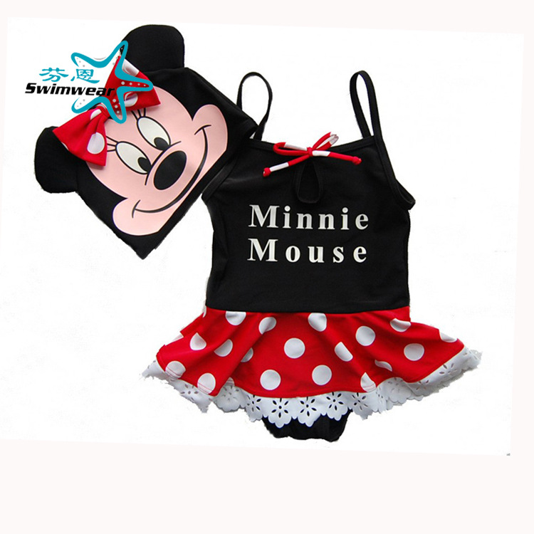 Minnie KID'S Swimwear Girls Baby Infant Siamese Swimsuit + Pants Cap