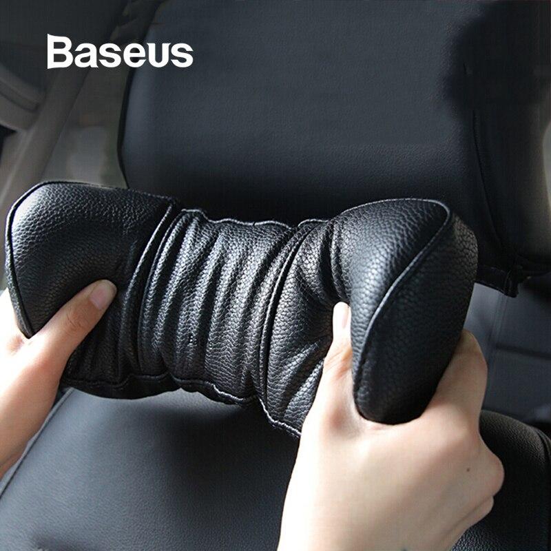 Baseus universel voiture oreiller 3D mousse à mémoire de forme chaud voiture cou oreiller siège Auto en cuir synthétique polyuréthane appui-tête coussin repose-tête Auto accessoires