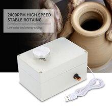 4,5 см электрическая гончарная машина, мини USB гончарные колеса, глиняная метательная машина для изготовления керамической глины, набор керамических глиняных Поттеров