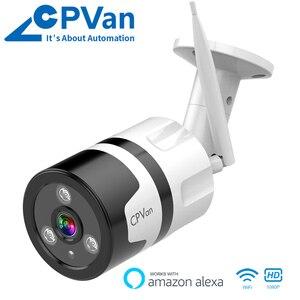 Image 1 - CPVan IP6S IP камера Alexa камера HD 1080P цилиндрическая камера двухсторонняя аудио Водонепроницаемая камера ночного видения Wi Fi