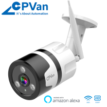 Cpvan IP Camera Wifi Bullet 1080P HD Waterproof Alexa Smart App Wireless Home Security Surveillance Night Version