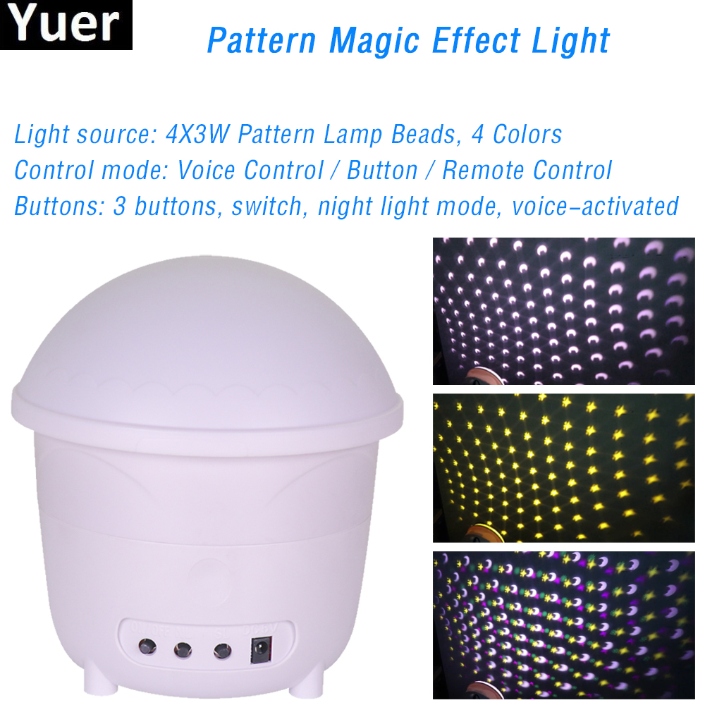 4 Color Patterns Lamp DJ Disco Lights RGB Party Lighting LED Christmas Rotating Stage Projector Light For Bar Stage Decoration