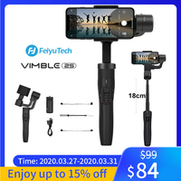 FeiyuTech Vimble 2S 3 AxisExtensible Handheld Gimbal Stabilizer with Extension Pole One KeyOrientationforiPhone 11 XXs 8,Samsung