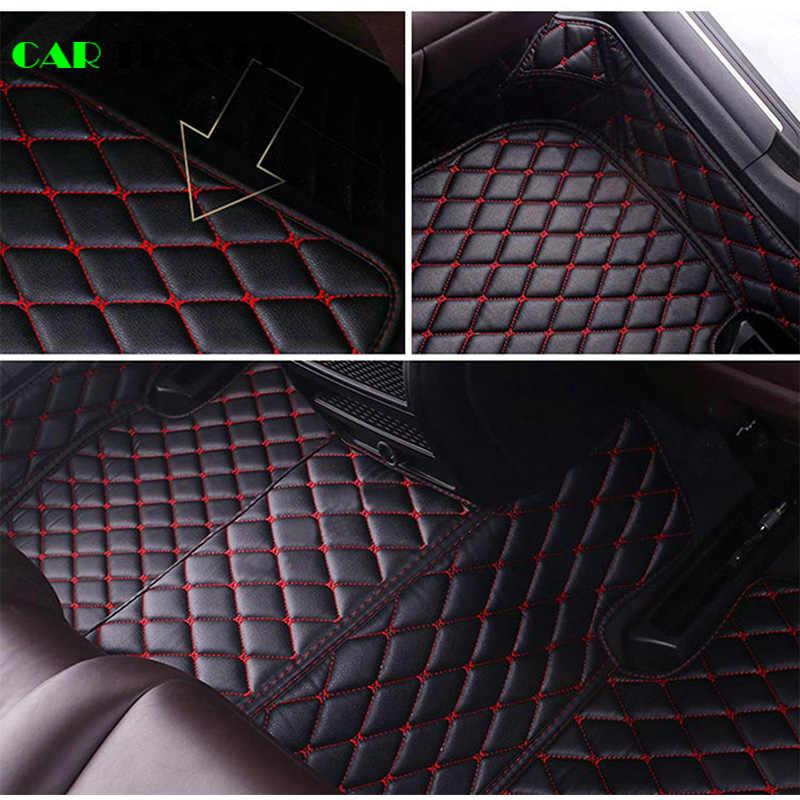 Kulit Kustom Lantai Mobil Tikar untuk Renault Logan Megane 2 Captur Kadjar Fluence Laguna Scenic Koleos Espace Aksesoris Karpet