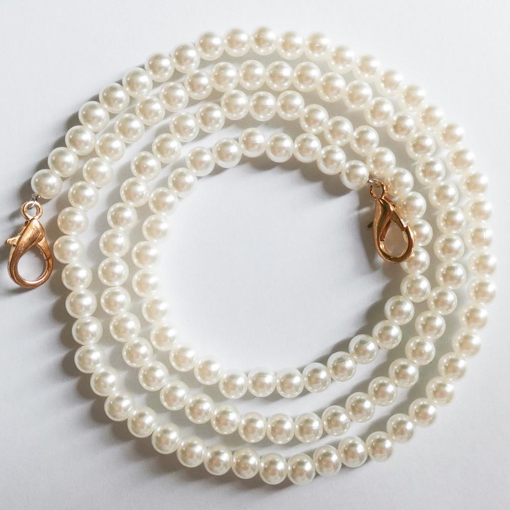 Boutique De FGG Long\Short Synthetic Pearl Chains Strap For Evening Clutch Handbag