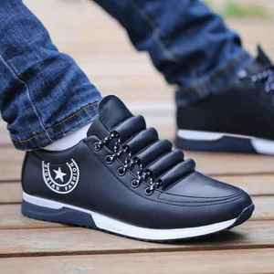 New 2020 Men PU Leather Business Casual Shoes for Man Outdoor Breathable Sneakers Male Fashion Loafers Walking Footwear Tenis