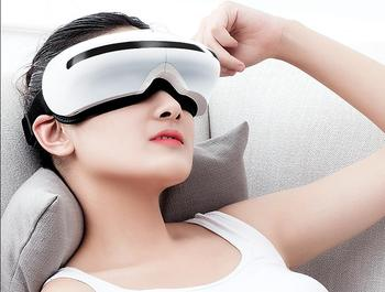 Eye massager eyecare instrument to protect black rim of the eye pouch to alleviate fatigue corrective eye massager hot compress