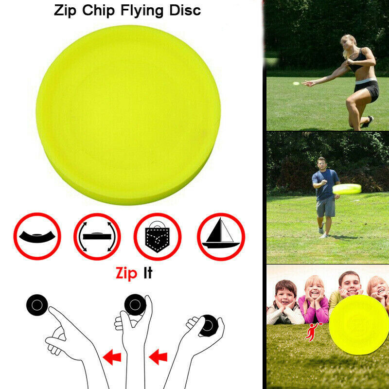 Color Mini Pocket Flexible Zip Chip ZipChip Flying Disc Soft New Spin In Catching Game The New Way To Play Fingertip Toy