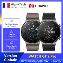 Version mondiale HUAWEI WATCH GT 2 Pro GT2 SmartWatch chargement sans fil 14 jours d'autonomie de la batterie 5 ATM GPS Bluetooth 5.1 Kirin A1