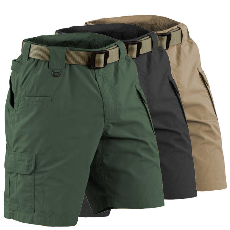 Men's Tourism Hiking Shorts Quick Dry Large Multi Pocket Loose Outdoor Riding Short Camouflage Army Military Men Climbing Shorts