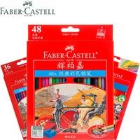 1 conjunto faber castell cavaleiro 12/24/36/48/60 clássico óleo cor lápis profissionais pintura artista desenho esboço arte suprimentos|  -