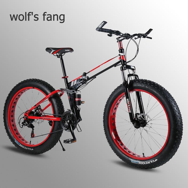 Fang do lobo bicicleta gordura bicicleta 7/21/24 velocidade bicicletas de neve liga de alumínio dobrável mountain bike pneu gordo bicicletas neve duplo disco br