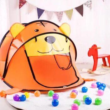 Przenośny tygrys namiot dla dzieci Cartoon zwierząt dom zabaw dla dzieci na zewnątrz duża pop Up namiot do zabawy kryty sieci piłka dla niemowląt basen Pit zabawki tanie i dobre opinie TouchCare Tkaniny keep away from fire 0-12 miesięcy 13-24 miesięcy 2-4 lat 5-7 lat 3 lat 3 lat WJ3250#A14-0407 Miękkie