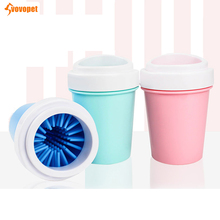VOVOPET Dog Foot Washer Cup Soft Silicone Pet Cat Paw Cleaner Portable Quickly Cleaning Dirt Clean Bucket