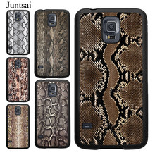 Juntsai Snake Texture Case For Samsung Galaxy S10 S10e S8 S9 Plus A50 A70 A10 A20 Note8 Note9 S7 S6 Edge Cover(China)