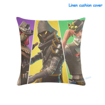 Fortnites Linen Pillow Case 45*45 Fortnight Cushion Cover Cartoon Game Printed Pillowcover Car Sofa Room Party Home Decoration 2