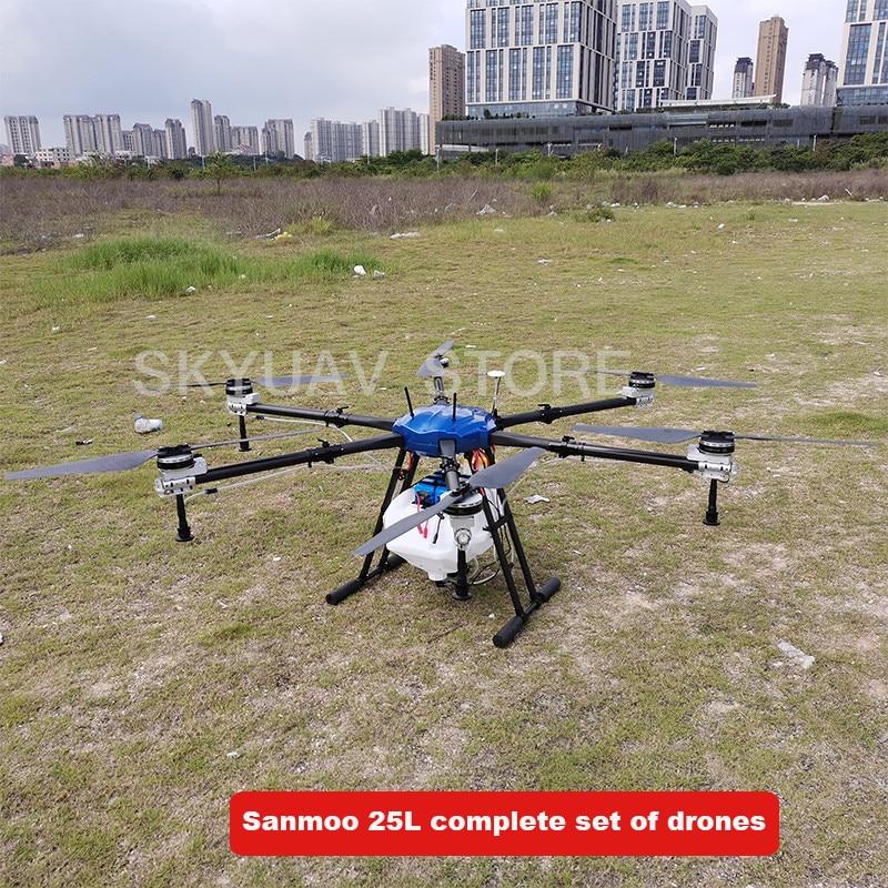 6 axes pulvérisateur agricole drone machine 1850mm empattement 25L/KG médecine boîte axe 25kg drone cadre